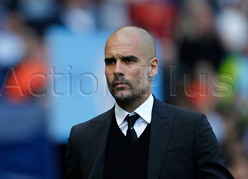 April 8th 2017, Etihad Stadium, Manchester, Lancashire, England; EPL Premier league football, Manchester City versus Hull City; Manchester City manager Pep Guardiola before the game
