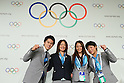(L to R) <br /> Kenta Chida, <br /> Mami Sato, <br /> Rie Tanaka, <br /> Hitomi Obara, <br /> SEPTEMBER 7, 2013 : <br /> A press conference after Tokyo was announced as the winning city bid for the 2020 Summer Olympic Games at the 125th International Olympic Committee (IOC) session in Buenos Aires Argentina, on Saturday September 7, 2013. (Photo by YUTAKA/AFLO SPORT)