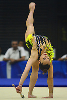 BARRANQUILLA - COLOMBIA, 30-07-2018:Ledia Juarez (MEX) ,en  gimnasia rítmica .Juegos Centroamericanos y del Caribe Barranquilla 2018. /Ledia Juarez (MEX)  inrhythmic gymnastics of the Central American and Caribbean Sports Games Barranquilla 2018. Photo: VizzorImage /  Alfonso Cervantes /Contribuidor