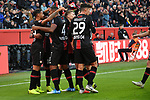 03.11.2018, BayArena, Leverkusen, GER, 1. FBL,  Bayer 04 Leverkusen vs. TSV 1899 Hoffenheim,<br />  <br /> DFL regulations prohibit any use of photographs as image sequences and/or quasi-video<br /> <br /> im Bild / picture shows: <br /> Torjubel / Jubel / Jubellauf,    Kai Havertz (Leverkusen #29),  Wendell (Leverkusen #18), Mitchell Weiser (Leverkusen #23), Karim Bellarabi (Leverkusen #38), Jonathan Tah (Leverkusen #4), <br /> Foto &copy; nordphoto / Meuter