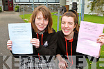 Sophie Norris and Hannah O'Connell from Killarney Community College delighted to finally start the Leaving Cert on Wenesday
