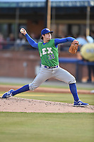 Lexington Legends starting pitcher Zach Lovvorn (31) delivers a pitch during a game against the Asheville Tourists on May 1, 2015 in Asheville, North Carolina. The Tourists defeated the Legends 4-1. (Tony Farlow/Four Seam Images)