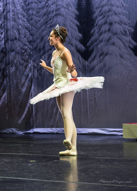 """Cary Ballet, """"Visions of Sugarplums"""", Space & Tech Rehearsal, Cary Arts Center, Cary, North Carolina, 17 Dec 2013."""