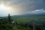 Storm moving through Kootenai Valley and Kootenai National Wildlife Refuge in Bonners Ferry, Idaho