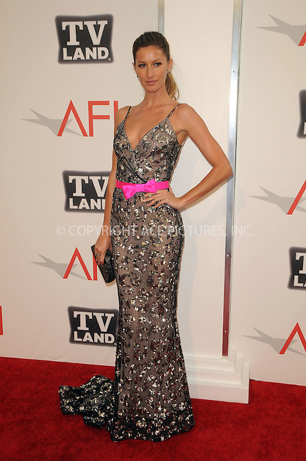 WWW.ACEPIXS.COM . . . . .  ....June 9 2011, Los Angeles....Gisele Bundchen arriving at the 2011 AFI Lifetime Achievement Awards honoring Morgan Freeman held at Sony Picture Studios on June 9, 2011....Please byline: PETER WEST - ACE PICTURES.... *** ***..Ace Pictures, Inc:  ..Philip Vaughan (212) 243-8787 or (646) 679 0430..e-mail: info@acepixs.com..web: http://www.acepixs.com