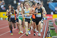 Photo: Tony Oudot/Richard Lane Photography..Aviva London Grand Prix. 25/07/2009. .men's 3000m Under 20. .Led by Dan Cliffe.
