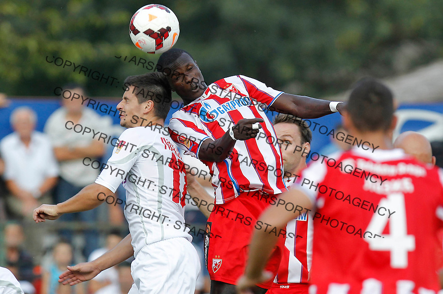 Fudbal Super liga season 2013-2014<br /> Javor v Crvena Zvezda <br /> Abiola Dauda and Nemanja Miletic<br /> Ivanjica, 11.08.2013.<br /> foto: Srdjan Stevanovic/Starsportphoto &copy;
