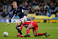 George Saville of Millwall in action during Millwall vs Brentford, Sky Bet EFL Championship Football at The Den on 10th March 2018