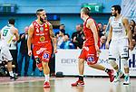 ****BETALBILD**** <br /> Uppsala 2015-04-24 Basket SM-Final 3 Uppsala Basket - S&ouml;dert&auml;lje Kings :  <br /> Uppsalas Mannos Nakos jublar eter att ha gjort po&auml;ng under matchen mellan Uppsala Basket och S&ouml;dert&auml;lje Kings <br /> (Foto: Kenta J&ouml;nsson) Nyckelord:  Basket Basketligan SM SM-final Final Fyrishov Uppsala S&ouml;dert&auml;lje Kings SBBK jubel gl&auml;dje lycka glad happy