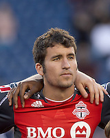 Toronto FC midfielder Nathan Sturgis (11). In a Major League Soccer (MLS) match, the New England Revolution tied Toronto FC, 0-0, at Gillette Stadium on June 15, 2011.