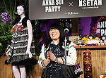 """May 4, 2016, Tokyo, Japan - American fashion designer Anna Sui delivers a speech as she attends the opening ceremony of her brand's special event """"Anna Sui Party"""" at the Isetan department store in Tokyo on Wednesday, May 4, 2016. Isetan celebrated the 20th anniversary of Anna Sui brand's launching in Japan.  (Photo by Yoshio Tsunoda/AFLO) LWX -ytd-"""