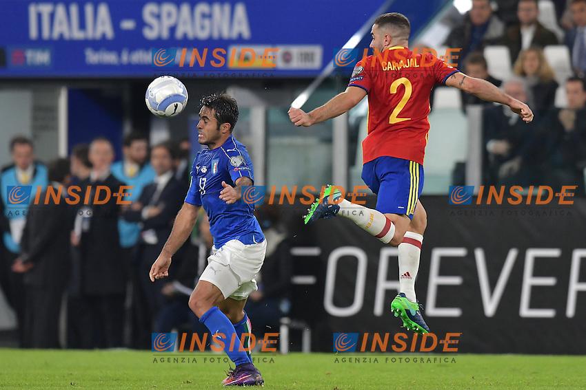 Eder Italia, Dani Carvajal Spain <br /> Torino 06-10-2016 Juventus Stadium <br /> World Cup Qualifiers Italy - Spain / Italia - Spagna. Foto Andrea Staccioli / Insidefoto
