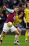 Jeff Hendrick of Burnley and Matteo Guendouzi of Arsenal during the Premier League match at Turf Moor, Burnley. Picture date: 2nd February 2020. Picture credit should read: Andrew Yates/Sportimage