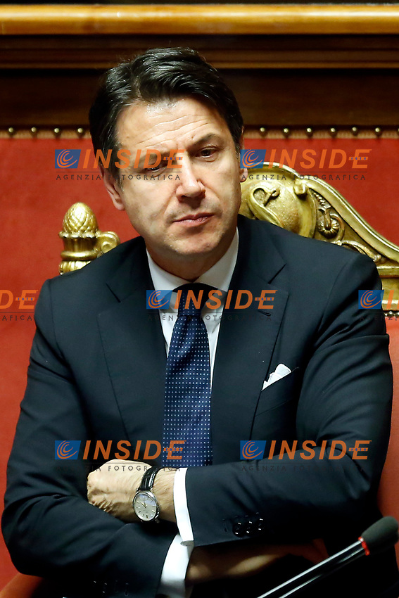 Giuseppe Conte<br /> Rome March 19th 2019. Senate. Speech of the Italian Premier about the next European Council and about the economic agreements italy/China.<br /> Foto Samantha Zucchi Insidefoto