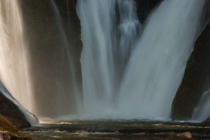 Middle Falls Abstract, Lewis River, Gifford Pinchot National Forest, Washington, US