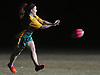 Abigail Timmins tosses the ball during LIU Post women's rugby practice held on campus on Wednesday, Feb. 21, 2018.
