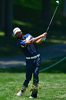 Potomac, MD - June 30, 2017: Troy Merritt plays his second shot from the rough on the 10th hole during Round 2 of professional play at the Quicken Loans National Tournament at TPC Potomac at Avenel Farm in Potomac, MD, June 30, 2017.  (Photo by Don Baxter/Media Images International)
