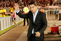 "BUENOS AIRES - ARGENTINA - 05 - 04 - 2018: Marcelo Gallardo, técnico de River Plate, durante partido de la fase de grupos, grupo D, fecha 2, entre River Plate (ARG) y el Independiente Santa Fe, por la Copa Conmebol Libertadores 2018, en el estadio Antonio Vespucio Liberti ""Monumental de River"", de la ciudad Ciudad Autónoma de Buenos Aires. / Marcelo Gallardo, coach of River Plate, during a match of the groups phase, group D, 2nd date, beween River Plate (ARG) and Independiente Santa Fe, for the Conmebol Libertadores Cup 2018, at the Antonio Vespucio Liberti ""Monumental de River"", in Ciudad Autónoma de Buenos Aires.  Photo: VizzorImage / Javier Garcia Martino / Photogamma / Cont."