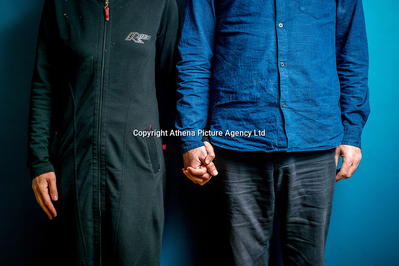 Tuesday 21 November 2017<br /> Pictured: Ahmad  and his wife Safaa<br /> Re:  Syrian Refugees arrive in Narbeth, Pembrokeshire