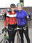 Drogheda Wheelers members Michelle Monahan and Anne Stillman who took part in the Kevin King Memorial Cycle in aid of St John's Ambulance Brigade and Drogheda and District Support 4 Older People. Photo:Colin Bell/pressphotos.ie