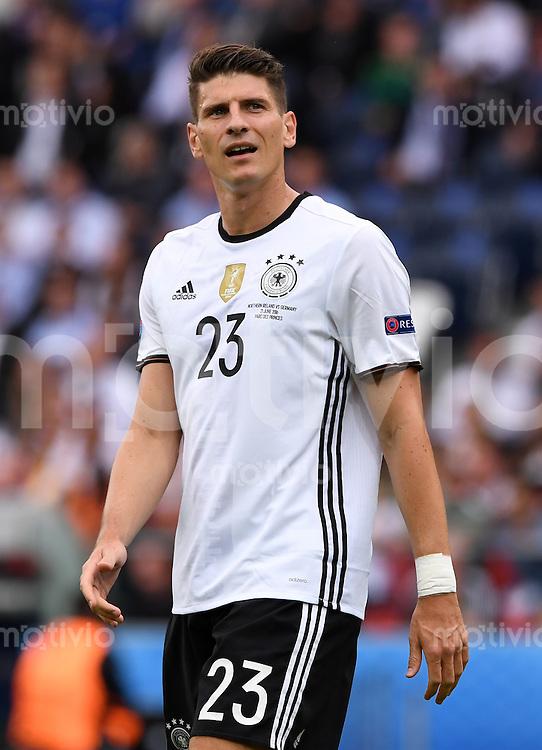 FUSSBALL EURO 2016 GRUPPE C IN PARIS Nordirland - Deutschland     21.06.2016 Mario Gomez (Deutschland)