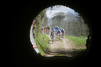 chasing peloton entering the tunnel<br /> <br /> 33th Tro Bro L&eacute;on 2016