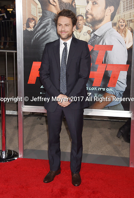 HOLLYWOOD, CA - FEBRUARY 13: Actor/Executive Producer Charlie Day attends the premiere of Warner Bros. Pictures' 'Fist Fight' at the Regency Village Theatre on February 13, 2017 in Westwood, California.