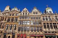 Belgium, Province Brabant, Brussels: Guildhouses around the Grand-Place (main square) | Belgien, Provinz Brabant, Bruessel: Zunfthaeuser auf dem Grand Place (Grote Markt)