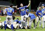 MIDDLETOWN CT. 09 June 2018-060918SV16- #10 Brandon Ellsworth of Seymour emerges from the pile as Seymour High players celebrate after beating Wolcott High 13-2 in the CIAC Class M baseball championship in Middletown Saturday. <br /> Steven Valenti Republican-American