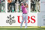 Nino Bertasio of Italy tees off the first hole during the 58th UBS Hong Kong Golf Open as part of the European Tour on 10 December 2016, at the Hong Kong Golf Club, Fanling, Hong Kong, China. Photo by Marcio Rodrigo Machado / Power Sport Images