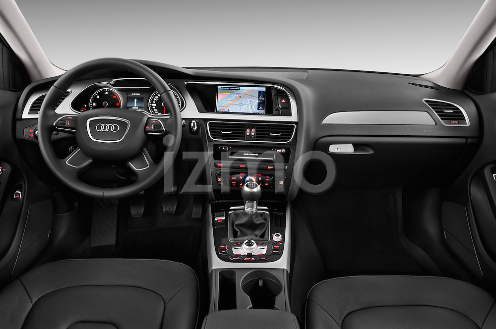 Straight dashboard view of a 2014 Audi A4 AMBITION LUXE 4 Door Sedan 2WD