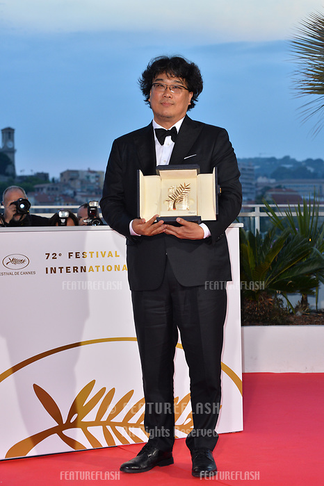CANNES, FRANCE. May 25, 2019: Bong Joon-ho  at the Palme d'Or Awards photocall at the 72nd Festival de Cannes.<br /> Picture: Paul Smith / Featureflash