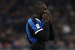 Romelu Lukaku of Inter reacts during the Coppa Italia match at Giuseppe Meazza, Milan. Picture date: 12th February 2020. Picture credit should read: Jonathan Moscrop/Sportimage