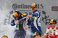 #37 MINI JCW Team, MINI JCW, ST: Derek Jones, Nate Norenberg, #81 BimmerWorld Racing, BMW 328i, ST: Nick Galante, Devin Jones, #73 MINI JCW Team, MINI JCW, ST: Mat Pombo, Mike LaMarra, podium, champagne