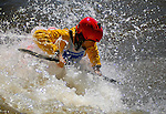 June 4, 2016 - Lyons, Colorado, U.S. -  Colorado's Greg Parker, sets up for a maneuver in Black Bear Hole on the South Saint Vrain River during freestyle competition at the Lyons Outdoor Games, Lyons, Colorado.