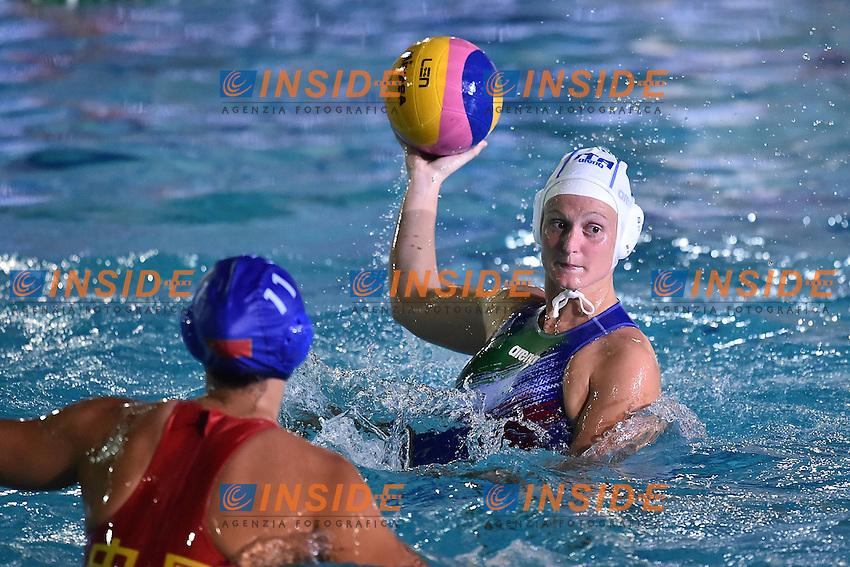 Elisa Queirolo <br /> Avezzano 29-06-2016 Centro Federale Unipol Blue Stadium Pallanuoto Donne Italia - Cina Waterpolo Women Italy - China Foto Andrea Staccioli / Insidefoto