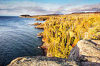 Autumn on the north shore of Lake Superior from Shovel Point in Tettegouche State Park.