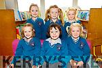 The six new Juniors who started school in Scoil Mhichíl, Ballinskelligs on Monday 3rd September were front l-r; Indigo Ní Chonaill, Clara Ní Shúilleabháin, Evelyn Nic an tSionnaigh, back l-r; Lola De Brún, Emily Ní Dhrisceoil agus Lilly Nic an tSionnaigh.