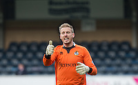 Goalkeeper Steve Mildenhall of Bristol Rovers gives thumb up during the Sky Bet League 2 match between Wycombe Wanderers and Bristol Rovers at Adams Park, High Wycombe, England on 27 February 2016. Photo by Andrew Rowland.