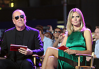June 15 , 2012  Michael Kors and Heidi Klum at Project Runway's 10th Anniversary Kick-Off at Times Square in New York City. © RW/MediaPunch Inc.
