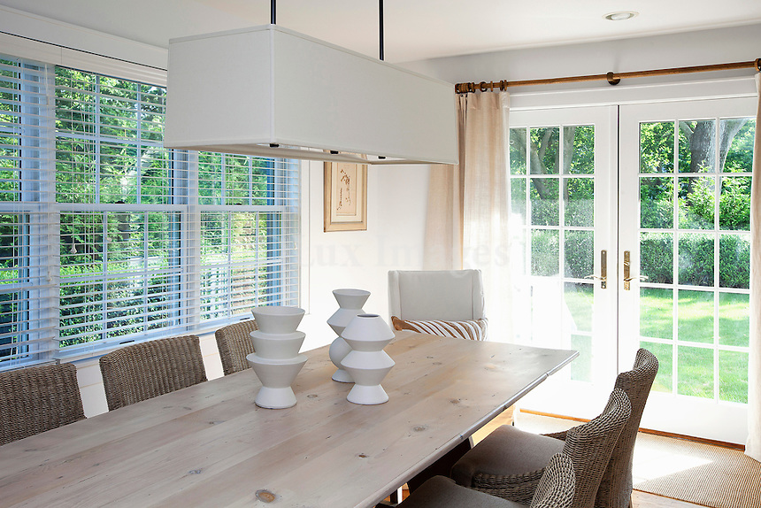 modern bright dining room