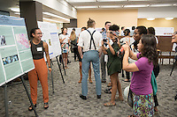 "Pinkie Young '17 presents ""Petrologic examination of hornblende in southern Coast Mountain Batholith, British Columbia""<br /> Occidental College's Undergraduate Research Center hosts their annual Summer Research Conference on Aug. 4, 2016. Student researchers presented their work as either oral or poster presentations at the final conference. The program lasts 10 weeks and involves independent research in all departments.<br /> (Photo by Marc Campos, Occidental College Photographer)"