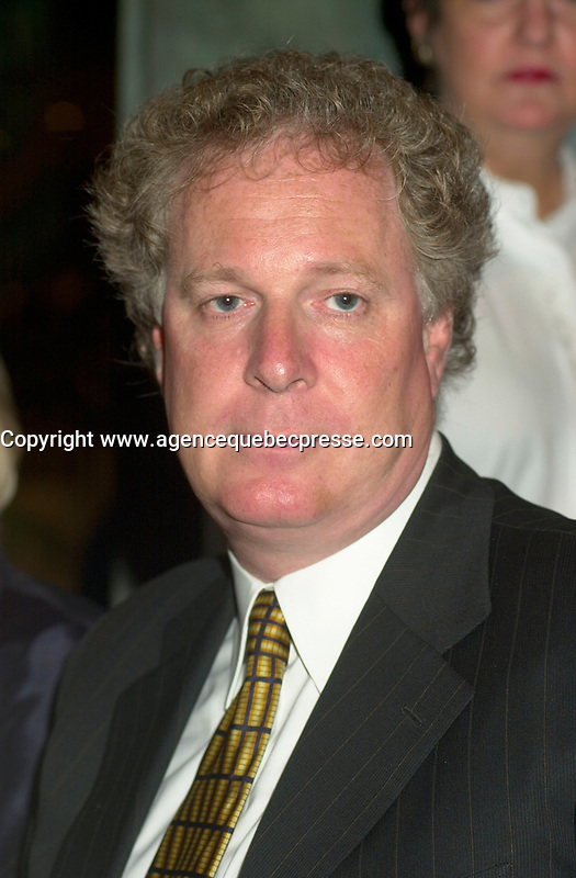 August 23rd  2002, Montreal, Quebec, Canada<br /> <br /> Jean Charest, Quebec Liberal Party leader<br /> <br /> <br /> <br /> Mandatory Credit: Photo by Pierre Roussel- Images Distribution. (&copy;) Copyright 2002 by Pierre Roussel