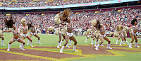 Washington Redskins cheerleaders perform between the first and second quarters during the game against the Cleveland Browns at FedEx Field in Landover, Maryland on October 2, 2016.<br /> Credit: Ron Sachs / CNP /MediaPunch ***EDITORIAL USE ONLY***