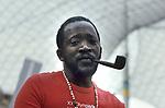 Ousmane Sembene - Regisseur, Schriftsteller - im Kameragraben bei Dreharbeiten zum Olympiafilm der XX. Olympiade, Muenchen <br /> <br /> - 01.06.2007-30.06.2007