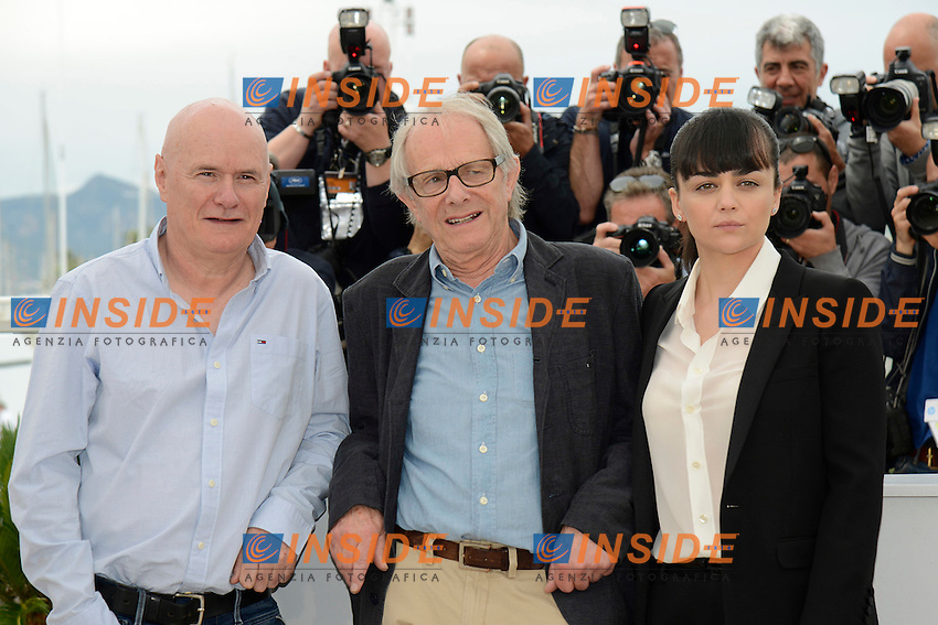 Dave Johns, Ken Loach, Haylay Squires<br /> Festival di Cannes 2016 <br /> Foto Panoramic / Insidefoto