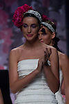 A model presents brides and party designs of Runway Miquel Suay at the Cibeles Madrid Novias in Ifema. In the image: Noelia Lopez(Alterphotos/Marta Gonzalez)