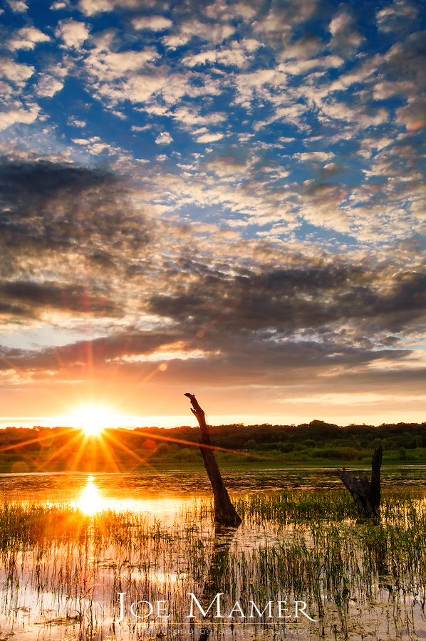 Sunset over the Minnesota River Valley near Jordan, Minnesota.