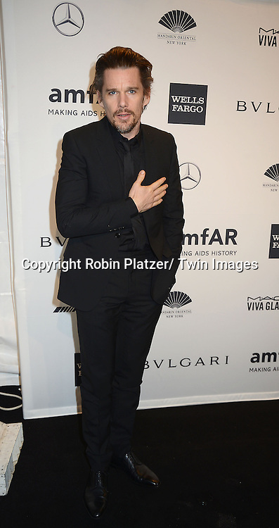 Ethan Hawke attends the amfAR New York Gala on February 5, 2014 at Cipriani Wall Street in New York City.