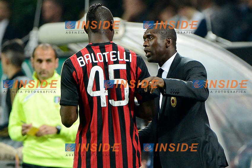 Mario Balotelli, Clarence Seedorf Milan<br /> Milano 04-05-2014 Stadio Giuseppe Meazza - Football 2013/2014 Serie A. Milan - Inter Foto Giuseppe Celeste / Insidefoto